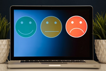 putting on excellent smiley face rating for a satisfaction survey, Customer experience