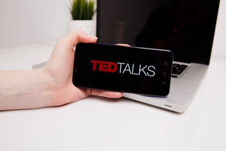 Tula, Russia - February 18, 2019: TED Talks logo displayed o Editorial