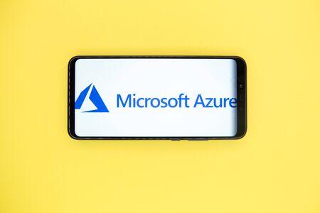 Tula, Russia - JANUARY 29, 2019: Microsoft Azure logo Redakční