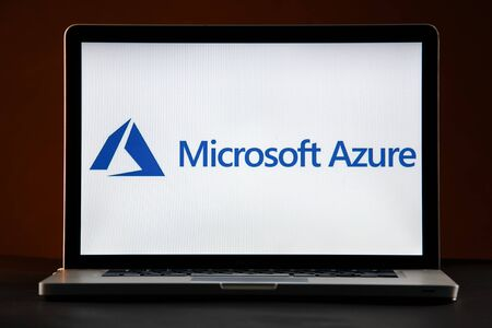 Tula, Russia - FEBRUARY 21, 2019 : logo displayed on a laptop