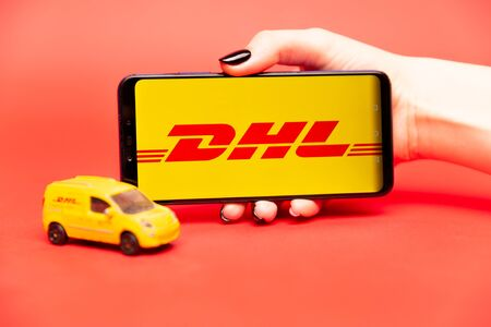 26 08 2019 Tula: GHL on the phone display and little car. Logo