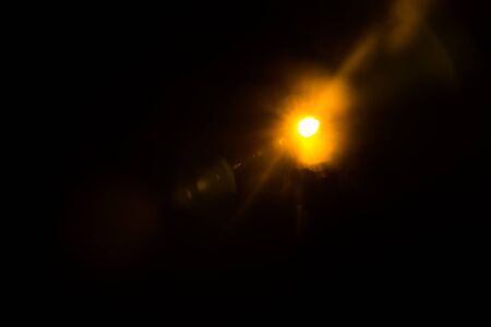 Lens Flare Orange Bright