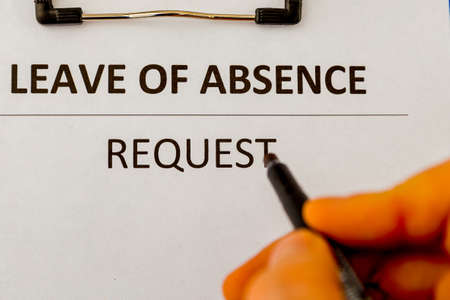 Leave of absence request statement form