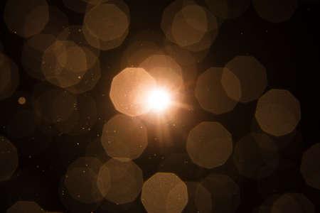 Lens Flare ,Sun Flare on black background object design