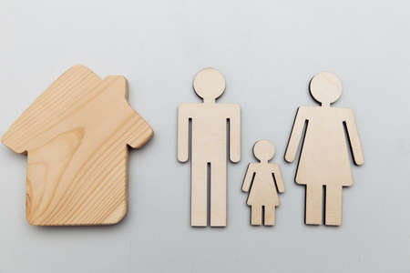 Wooden family and house