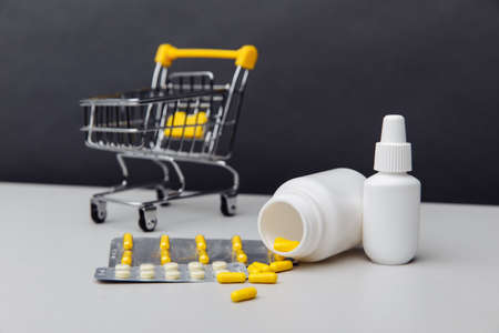 Shopping cart with compounded prescription medications shipped from a mail order pharmacy