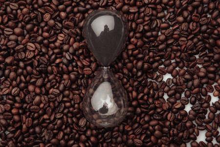 Coffee and hourglass