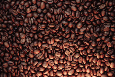 Fresh roasted coffee beans texture