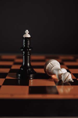 Chess. Planning and Decision concept business. Vertical image 版權商用圖片