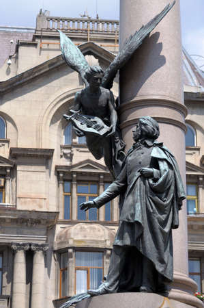 lemberg: The monument to Adam Mickiewicz in Lviv
