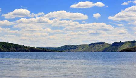 settlements: Bank of the Dniester river (Bakota is a historic submerged settlements, Khmelnytskyi oblast, Ukraine)