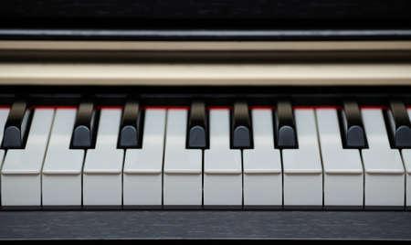 fortepian: Cyfrowe pianino elektryczne klucze bliska Zdjęcie Seryjne