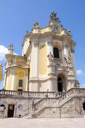 lvov: st. George church in sunny summer day in Lvov Ukraine