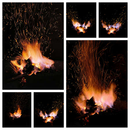 forge: Embers and Flames of a smiths forge collage