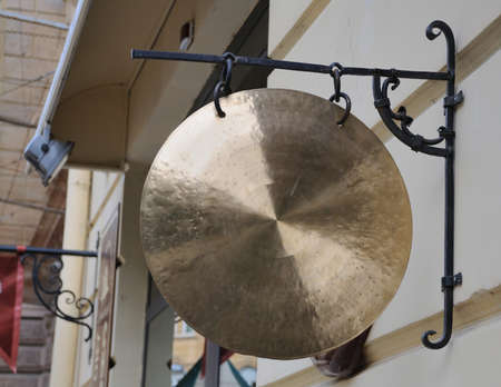 front view: Traditional gong , front view