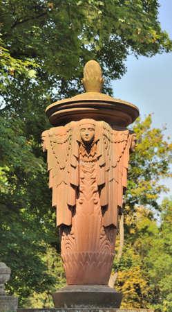 eminence: Old statue in Lychakiv Cemetery in Lviv, Ukraine
