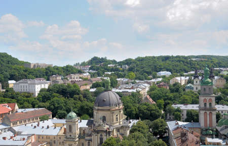 lviv: Lviv. View from a high tower. Stock Photo
