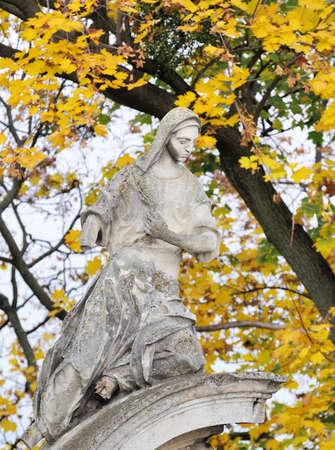 lviv: Old statue  in Lviv, Ukraine