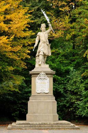 Monument à Jan Kilinskii à Lviv (Ukraine) Banque d'images - 46297704