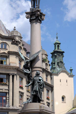 adam: The monument to Adam Mickiewicz in Lviv
