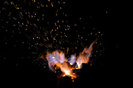 Embers and Flames of a smiths forge
