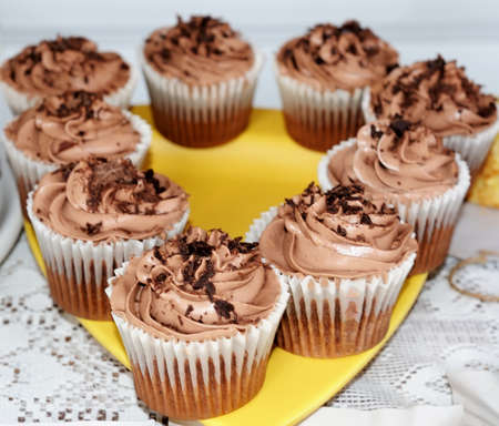 home baking: Fresh home baking cupcake dessert