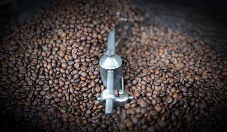 コーヒーの焙焼の焼きたてのコーヒー豆 写真素材 - 48591948