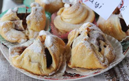 home baking: Fresh home baking cake dessert Stock Photo