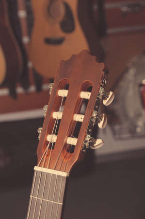 guitar tuner: Headstock of the six string classical  guitar