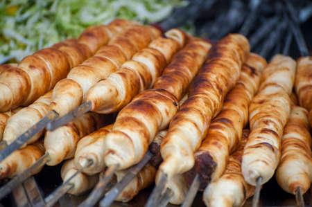 Street Food Festival . Fresh street food closeup .