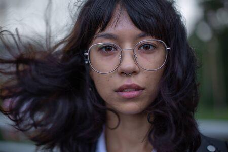 Sensual portrait of an Oriental girl. Stock Photo