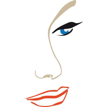 perfil de mujer rostro: Cara de perfil