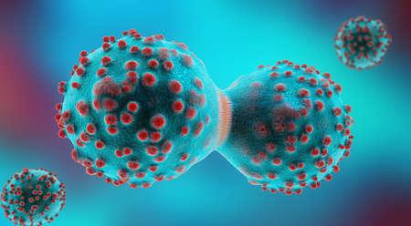 유사 분열 과정에서 암세포의 3d 일러스트 스톡 콘텐츠
