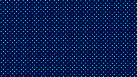 Symmetrically distributed blue glowing dots or balls on dark background - 3d illustration