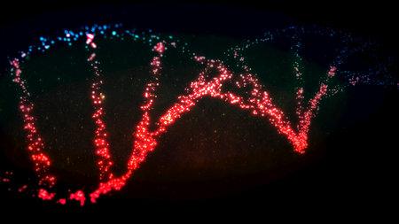 Futuristic illustration of a deoxyribonucleic acid double helix composed of luminous dots - 3d illustration