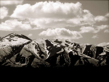 Colorado Mountains, Black and White