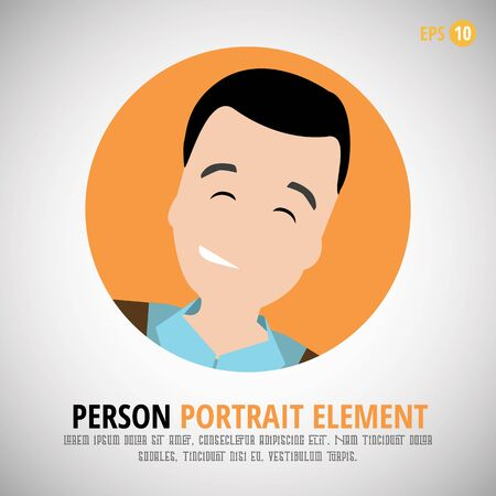 profile picture: Happy character portrait - Person profile picture Design Illustration