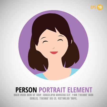 profile picture: Happy character portrait - Person profile picture Design Illustration