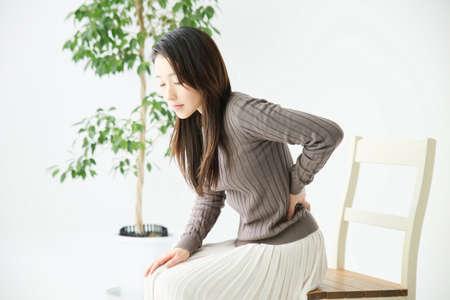 hernia: Women of low back pain Stock Photo
