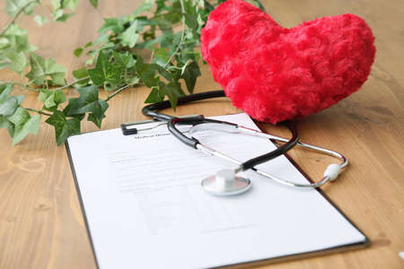 Medical records and hearts and green