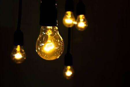 bulb light: lighting decor Stock Photo