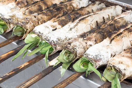 snakehead: salted grill snakehead fish with herbs
