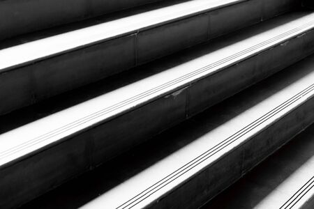 up stair: close up stair concrete in modern building Stock Photo