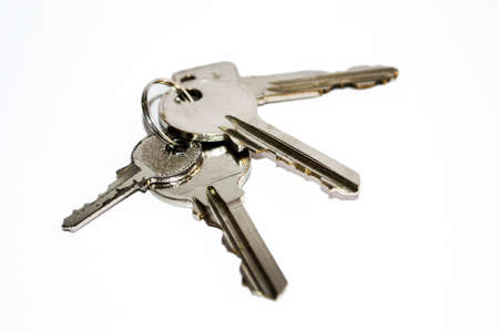 This photo is keys on white background  Stock Photo