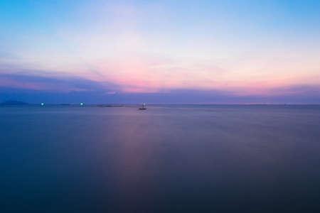 Sea with blue sky