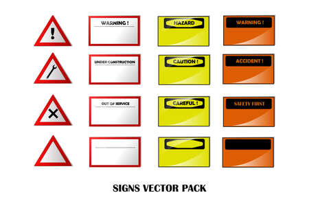 Warning signs. Stock Vector - 16667999