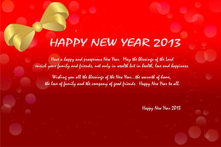 Happy new year 2013 gift card.