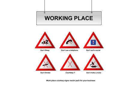 Work place signs  Stock Vector - 16668001
