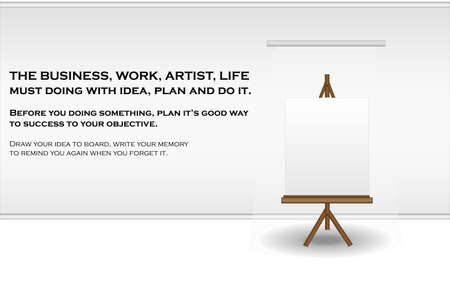 Drawing board for put your idea, picture, text to board.