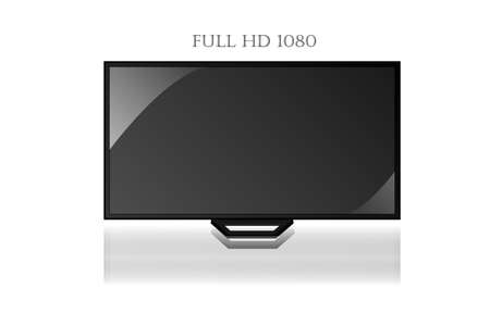 The Full hd tv vector or picture will help you for present by photo or text Stock Vector - 16757049